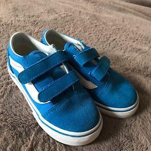 Amazing blue suede/canvas vans, worn once!
